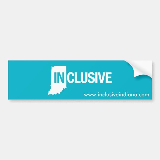 Inclusive Indiana Bumper Sticker
