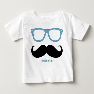 incognito - funny moustache and blue shades tshirt