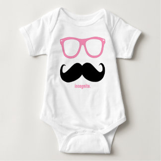 incognito - funny moustache and pink shades t-shirts
