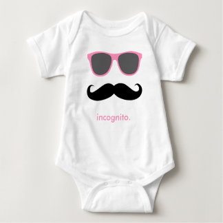 incognito - funny mustache and pink shades tshirts