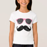 Incognito girl - funny moustache and sunglasses T-Shirt