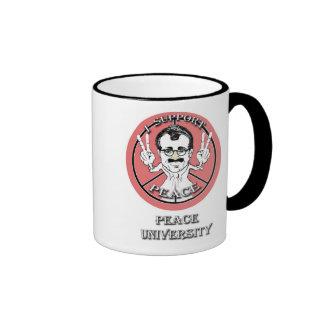 incognito Peace University Mascot Coffee Mugs