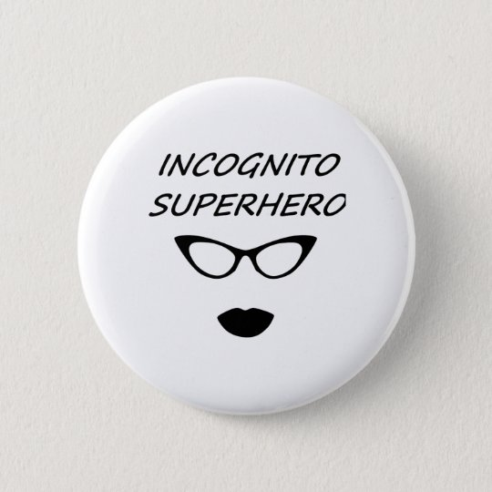 Incognito Superhero 03B 6 Cm Round Badge