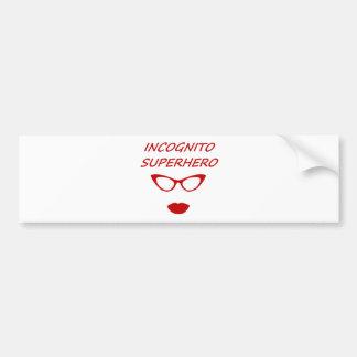 Incognito Superhero 03R Bumper Sticker