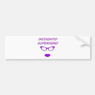 Incognito Superhero 3PR Bumper Sticker