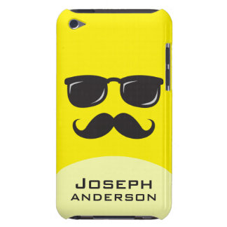 Incognito yellow smiley with mustache iPod case Barely There iPod Covers