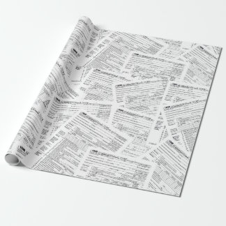 Income tax forms wrapping paper