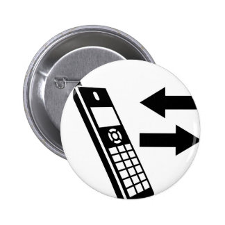 Incoming Calls Outgoing Calls House Phone 6 Cm Round Badge