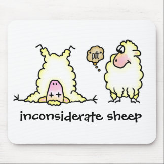Inconsiderate Sheep Mousepad