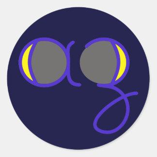 increasing removing moon waning waxing moon round sticker
