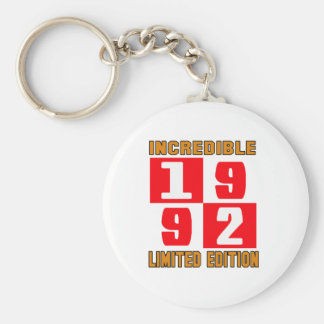 Incredible 1992 limited edition basic round button key ring