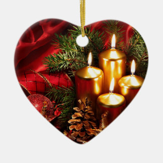incredible Christmas Ceramic Heart Decoration