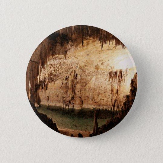 incredible hidden stalagmite cave 6 cm round badge