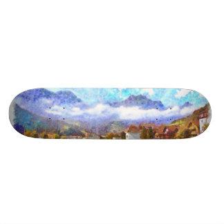 Incredible Swiss landscape Skateboard