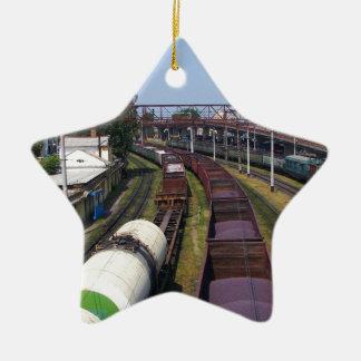 Incredibly Long Cargo Train Christmas Ornament
