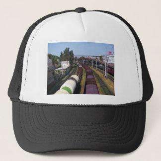Incredibly Long Cargo Train Trucker Hat