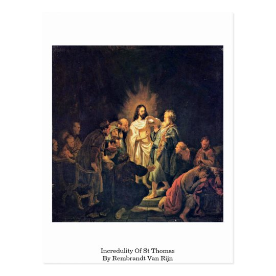 Incredulity Of St Thomas By Rembrandt Van Rijn