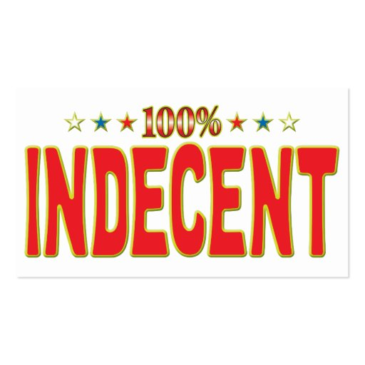 Indecent Star Tag Business Card