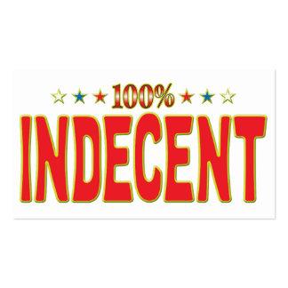 Indecent Star Tag Pack Of Standard Business Cards
