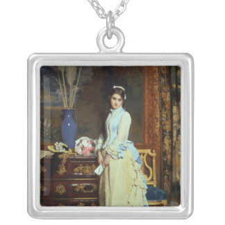 Indecision Silver Plated Necklace