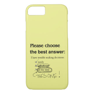 Indecisive Multiple Choice Questions iPhone 7 Case
