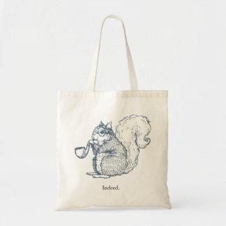 Indeed Gentleman Squirrel Tote Tote Bags