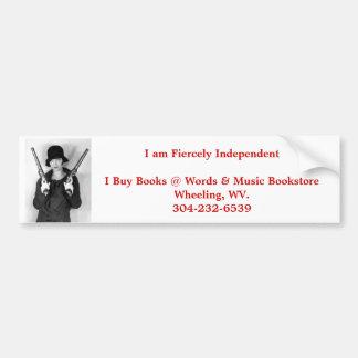 independant bookstore wheeling wv. bumper sticker