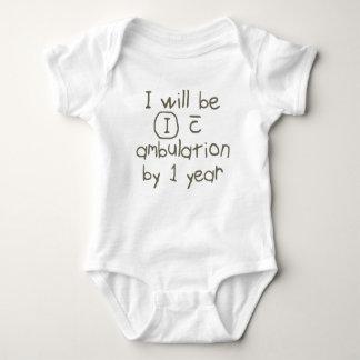 independant with ambulation grey handwriting PT Baby Bodysuit