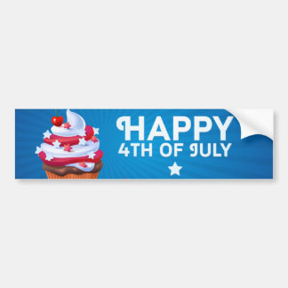 Independence 4th July Bumper Sticker