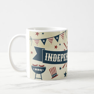 Independence 4th of July patriotic USA mug