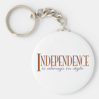 Independence Basic Round Button Key Ring