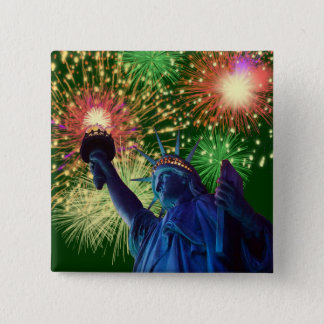 Independence Day! 15 Cm Square Badge