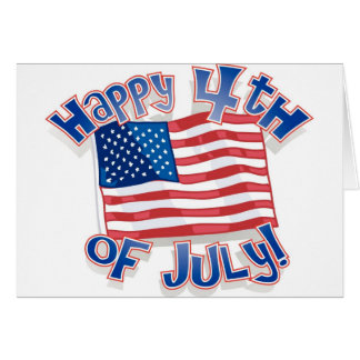 Independence Day 4 july Greeting Card