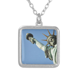 Independence day 4th July Silver Plated Necklace