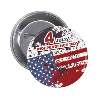 Independence Day 4th of July Button