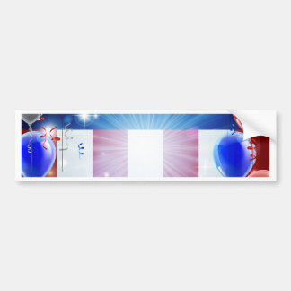Independence Day 4th of July Concept Bumper Sticker