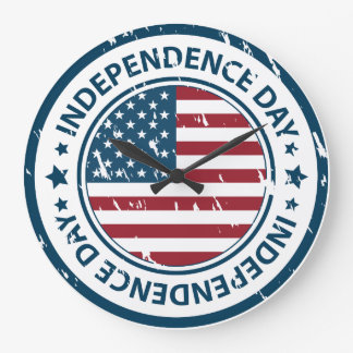 Independence Day 4th of July look time Clock