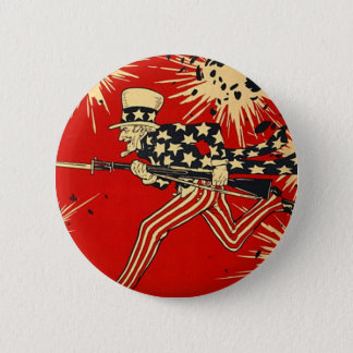 Independence Day 6 Cm Round Badge
