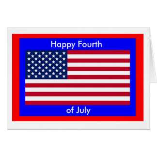 Independence Day American Flag Card