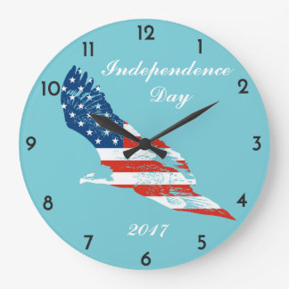 Independence Day - American Flag in Eagle Clock