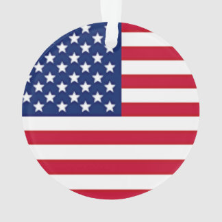 Independence Day American Flag Ornament