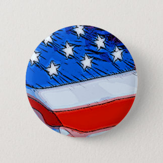 Independence Day Banner 6 Cm Round Badge