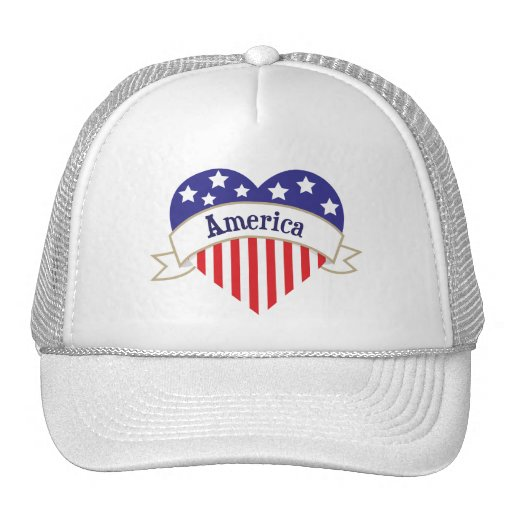 Independence Day Banner Heart Hats
