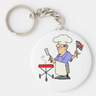 Independence Day BBQ Key Chains