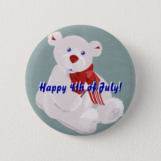 Independence Day Bear Button