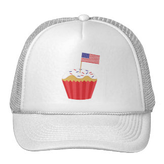 Independence Day Cupcake Mesh Hat