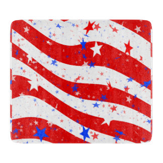 Independence Day Curved Stars and Stripes Cutting Board