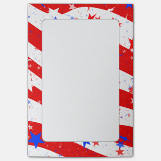 Independence Day Curved Stars and Stripes Post-it® Notes