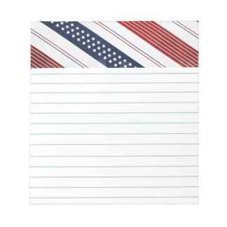 Independence Day Diagonal Stars and Stripes Notepad