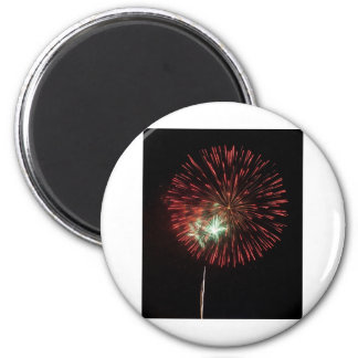 Independence Day Fireworks over Washington DC 6 Cm Round Magnet